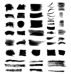 Grungy shapes vector