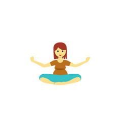 isolated yoga flat icon meditation element vector image