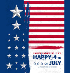 july fourth3 vector image vector image