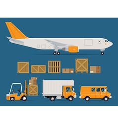 Logistics Transport Icon Set vector image vector image