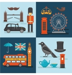 London colored compositions vector
