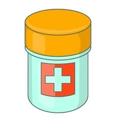 Medicine bottle icon cartoon style vector