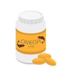 Medicine bottle pill vitamin icon vector