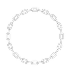 metal round chain vector image
