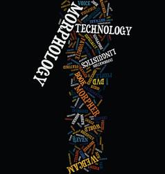 Morphology the new technology jargon text vector
