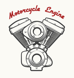motorcycle engine emblem vector image