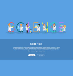 science banner science alphabet vector image vector image