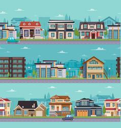 Seamless cityscape template vector