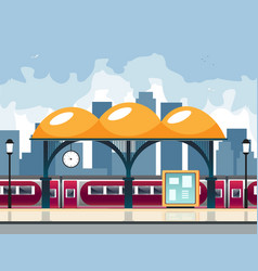 small railway station vector image vector image