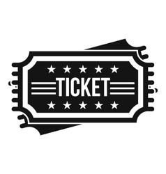 Ticket icon simple style vector image