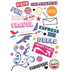 travel sketch vector image vector image
