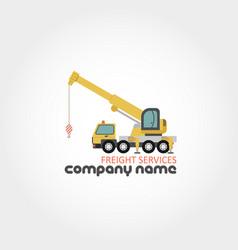 Truck crane - company name vector