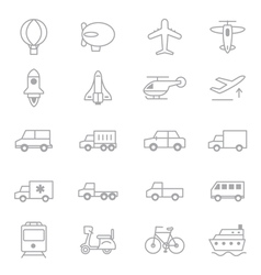 Transportation Icons Line Set Of copy vector image