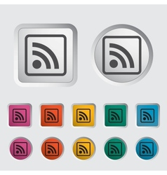 Rss icon 2 vector image