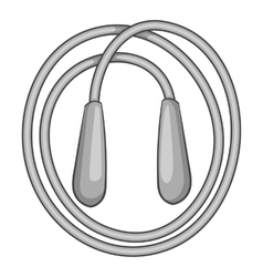 Skipping rope icon gray monochrome style vector