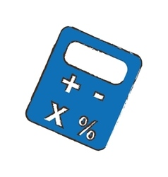 Calculator pictogram icon image vector