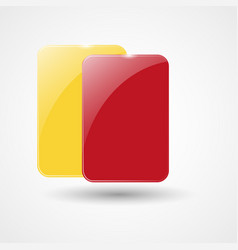 yellow card and red card vector image