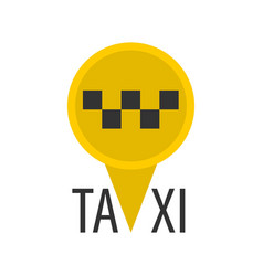 Taxi sign in pin vector
