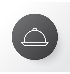 Tray icon symbol premium quality isolated platter vector
