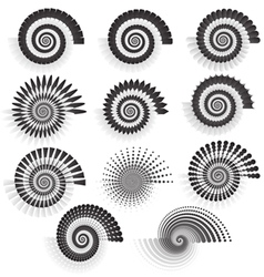 Variations of swirls vector image