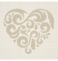 Abstract Heart on a textured background vector image
