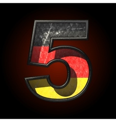 Germany cutted figure 5 vector