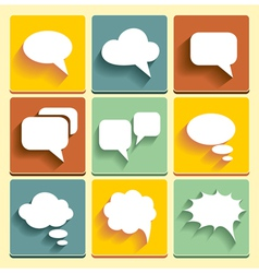 Set speech bubble icons vector