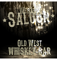 Wild west bar design vector