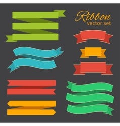 Set of business ribbons vintage style for design vector