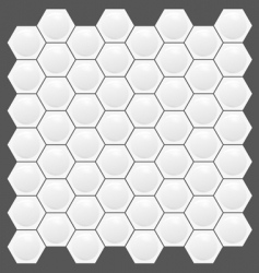 Hexagon texture pattern vector