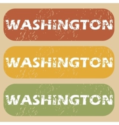 Vintage washington stamp set vector