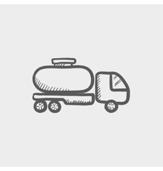 Fuel truck sketch icon vector