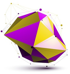 Triangular vivid abstract 3d colorful digit vector