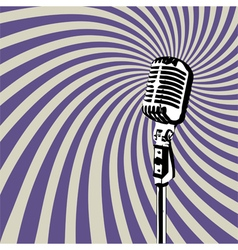 Retro microphone 3 vector