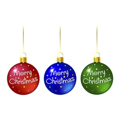 Set of colored christmas balls vector