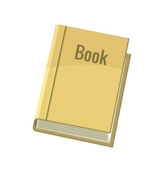 Book icon cartoon style vector