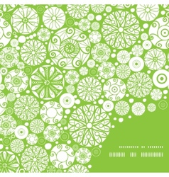Abstract green and white circles frame corner vector