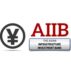 Aiib - the asian infrastructure investment bank vector