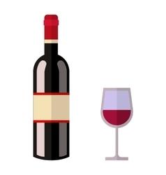 Alcohol drink wine bottle vector image vector image