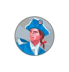 American Patriot Circle Low Polygon vector image vector image
