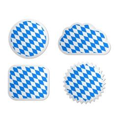 Bavaria flag labels vector image vector image