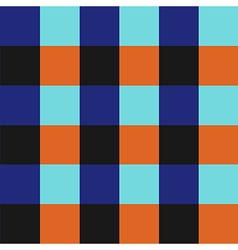 Blue orange chess board background vector
