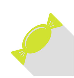 Candy sign pear icon with flat style vector