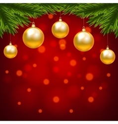 Christmas shiny card vector image