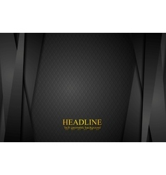 Corporate black abstract background with stripes vector image vector image