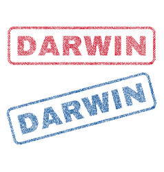 Darwin textile stamps vector