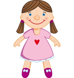 doll vector image vector image