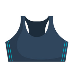 Female gym blouse icon vector
