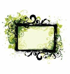 floral border frame vector image vector image