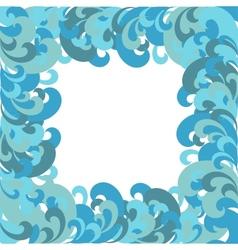 Frame sea waves vector